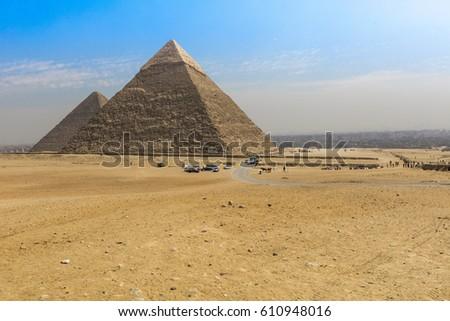 great egyptian pyramids in giza ...