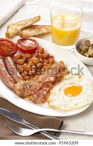 Great english breakfast ready to eat!