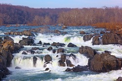 Great Falls National Park in Virginia and Maryland, USA