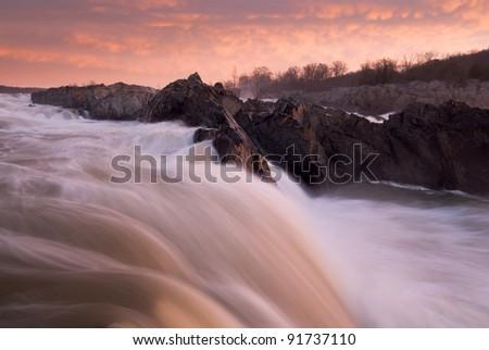 Great Falls National Park Potomac River Sunrise