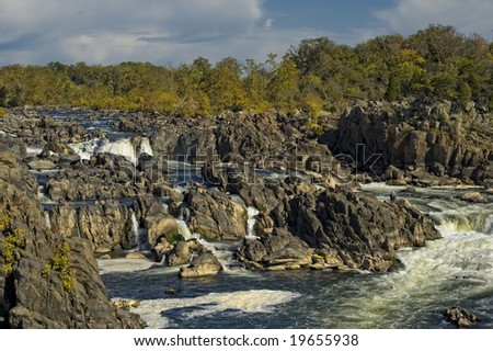 Great Falls Park in Virginia Original site of trading canals developed by George Washington on the Potomac River Great Falls