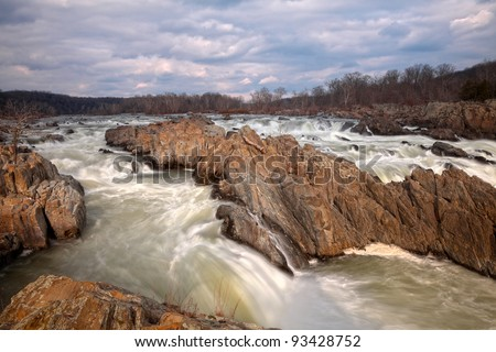 Great Falls Park, Virginia, USA (HDR composite) - stock photo