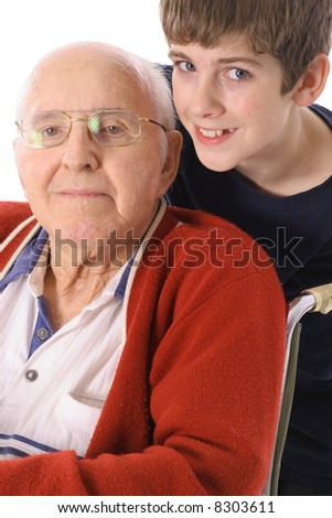 Great Grandfather and Grandson together vertical