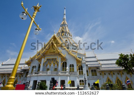 Great gray church in Chacherngsao province. Thailand