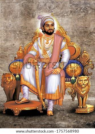 great hindu warrior king Chatrapati Shivaji Maharaj maratha.