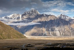 Great landscape around Mt Cook , NewZealand