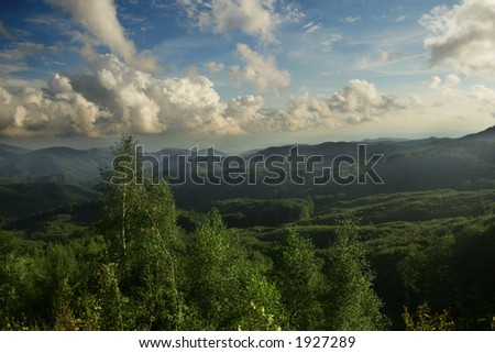 great landscape over the hills
