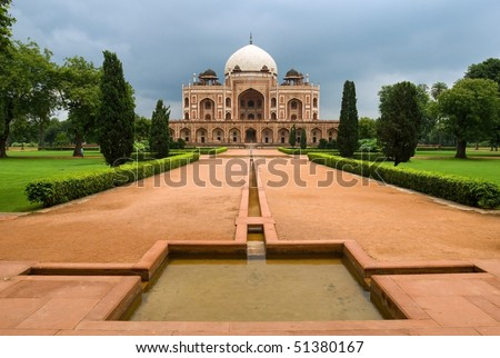 Great Mogul emperor Humayun's mausoleum in New Delhi, India