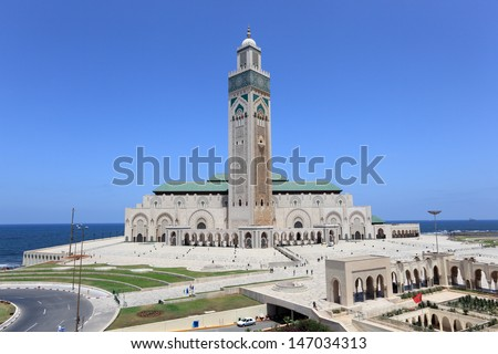 Great Mosque Hassan II in Casablanca Morocco