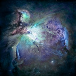Great Nebula in Orion, Supernova Core pulsar neutron star. Elements of this image furnished by NASA. Retouched image.