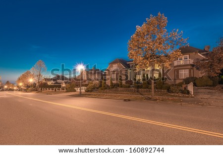 Great Neighborhood. A Row Of The Luxury Houses At The ...