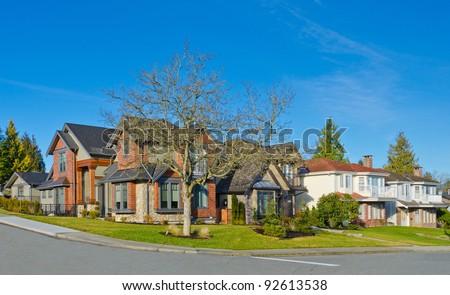 Great neighborhood. Homes of the North America. Canada.
