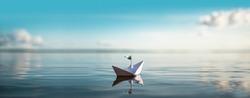 Great Ocean Paper Boat Panorama