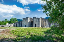 Great Preslav (Veliki Preslav), Shumen, Bulgaria. Ruins of The capital city of the First Bulgarian Empire medieval stronghold