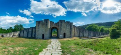 Great Preslav (Veliki Preslav), Shumen, Bulgaria. Ruins of The capital city of the First Bulgarian Empire medieval stronghold