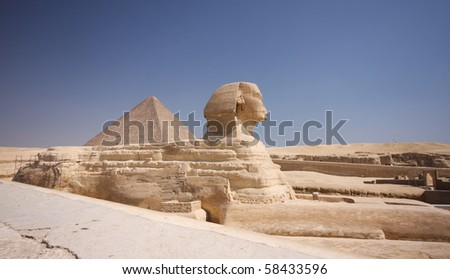 Great pyramid and Sphinx - Giza, Egypt