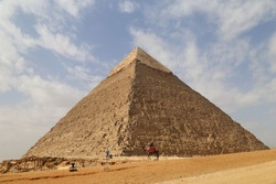 Great Pyramid of Giza (Pyramid of Khufu or the Pyramid of Cheops) in Egypt