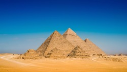 Great Pyramids in Giza, Egypt
