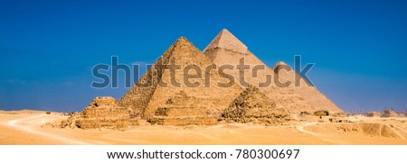 Great Pyramids in Giza, Egypt #780300697