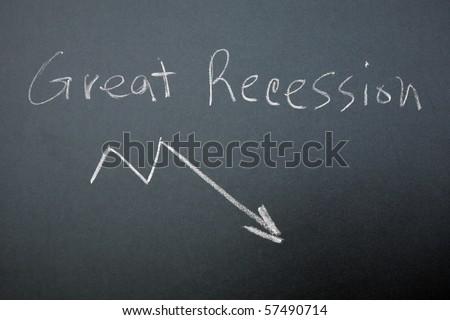 Great Recession graph on blackboard