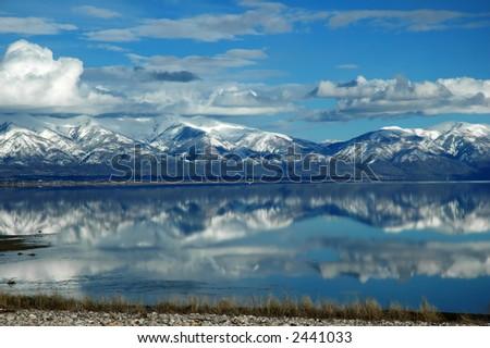 Great Salt Lake in Utah - stock photo