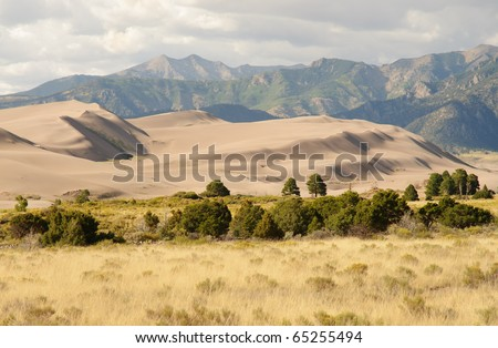 Great Sand Dunes National Park and the Sangre de Cristo Mountain Range