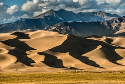 Great Sand Dunes National Park Colorado at Sunset