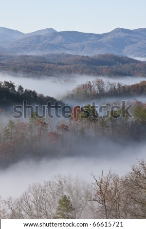 great smoky mountain national park a lot of fog great colors