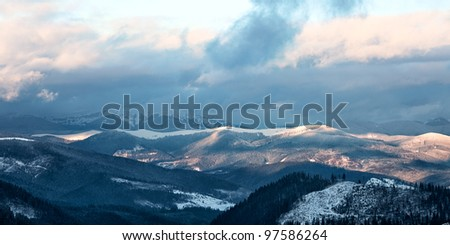 Great Smoky Mountain National Park in winter, Tennessee, USA