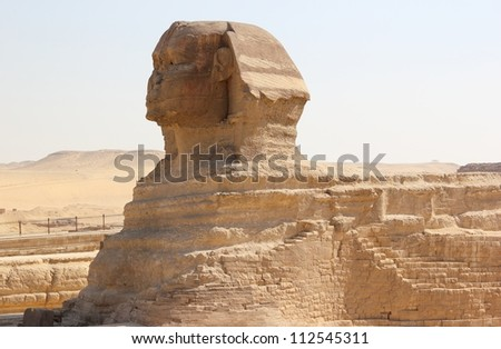 Great Sphinx of Giza, Cairo, Egypt.