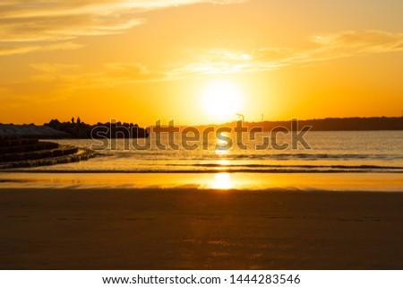 Great sunset at seaside in Choshi, Chiba, Japan #1444283546