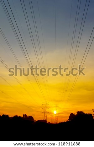 great sunset via pylon tower