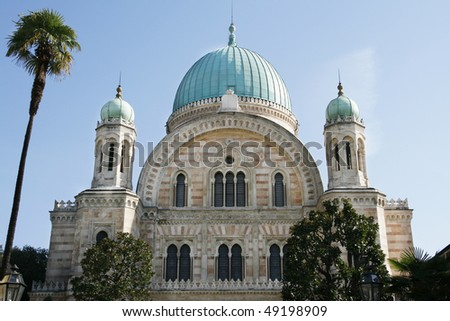 Great Synagogue of Florence (Tepmio Maggiore), Tuscany, Italy - stock photo