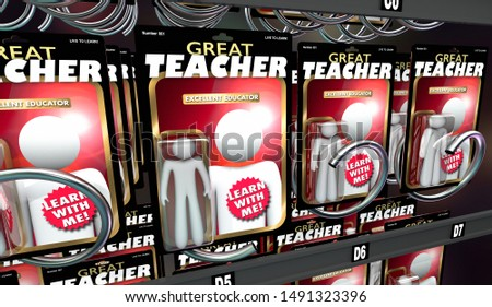Great Teacher Educator Learn With Me Action Figures 3d Illustration