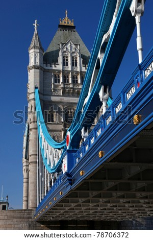 Great Tower Bridge in London, UK
