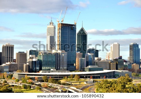 Great View of Perth Skyline from King's Park