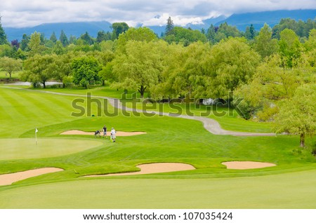 Great view (panorama, outlook ) at the beautiful golf course