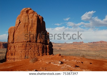 Great view within Arches National Park, Moab, Utah - stock photo