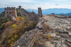 Great Wall of China in autumn