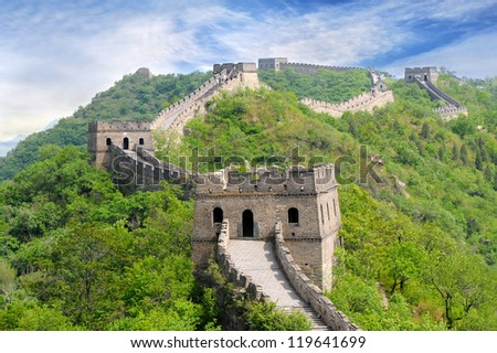 Great Wall of China in Summer