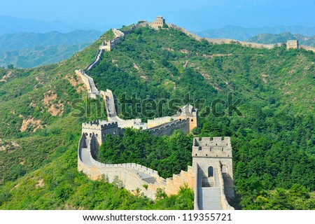 Great Wall of China in Summer (Jinshanling section near Beijing)