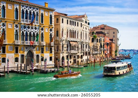 Great water street - Grand Canal in Venice, Italy