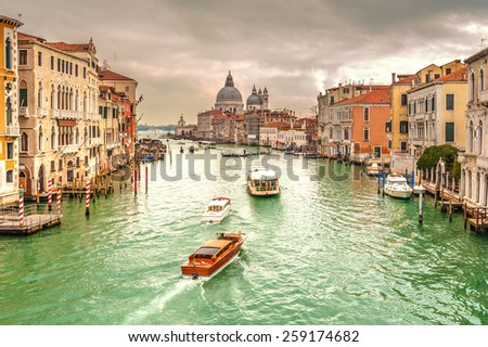 Greatest place of love and beauty of art on the ground in Venice, Italy #259174682
