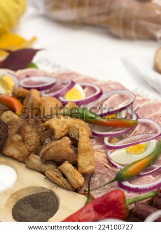 Greaves and meat products Stock photo ©