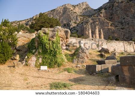 Greece. Archaeological Site of Delphi.  Delphi was the site of the Delphic oracle. The archaeological site of Delphi is an UNESCO World Heritage site