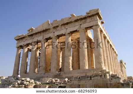Greece Athens Acropolis archeaological site the Parthenon - Unesco World heritage site