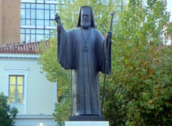 Greece, Athens, Archbishop Damaskinos Papandreou  Monument