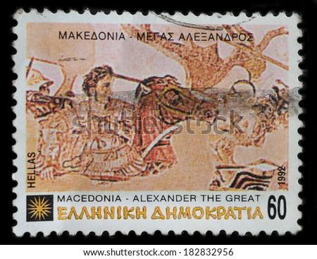 GREECE - CIRCA 1992 : stamp printed by Greece, shows Alexander the Great, circa 1992