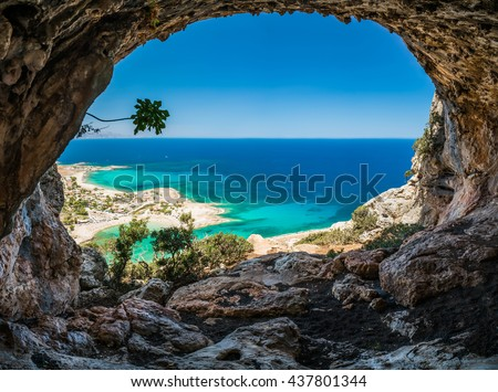 stock photo greece crete 437801344 - Каталог — Фотообои «Природа, пейзаж»