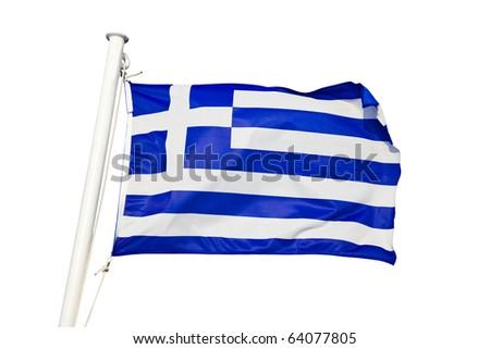Greece flag - isolated on white background